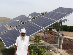 solar pump with owner farmer